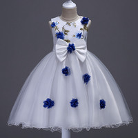 Age 3 12Y Children Clothing Baby Summer Dresses For Girls Kids Tutu Clothes Butterflies Flower Girl