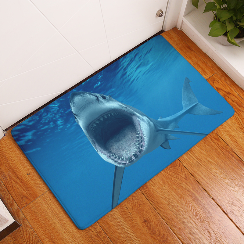 2017New HD Shark Print Teppiche Anti-Rutsch-Bodenmatte Outdoor - Haustextilien - Foto 1