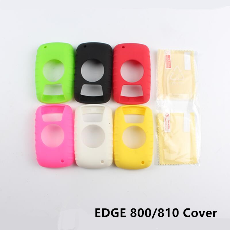 Outdoor Cycling Edge 800 810 Computer Silicone Rubber Protect Case + LCD Screen Film Protector For Garmin Edge 800/810