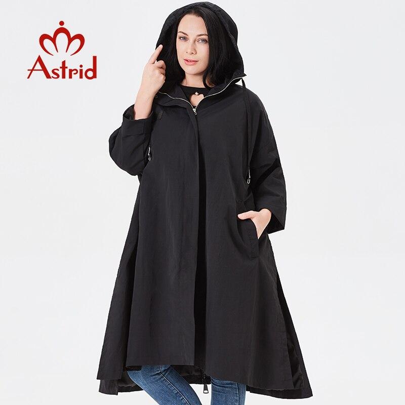 Astrid trench coat femmes à capuche grande taille haute qualité coupe-vent mode gothique Long lâche adapté à tout le monde manteau 2019 B02