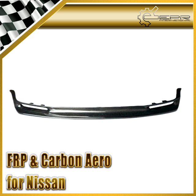 US $369 0  Car styling For Nissan Skyline R32 GTR JUN Carbon Fiber Front  Lip (Will fit on standard GTR front bumper only)-in Awnings & Shelters from