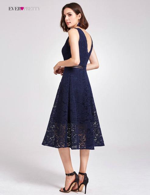 813b504e1b Lace Cocktail Dresses AS05919 Elegant V-neck High Waist Tea Length  Fashionable Affordable Party Dresses for Women