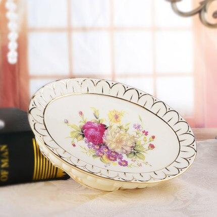 Houmaid accessoires de salle de bain de style européen ensemble en céramique porte-savon porte-dents tasse de brossage - 5