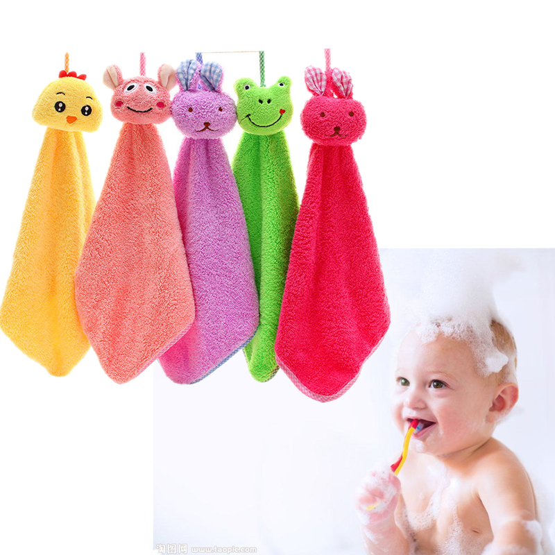 Baby Kids Soft Bath Washing Handkerchief Towels Coral velvet Washcloth Wipe Hand Face Cloth Soft Comfortable Kid Toddler zl654