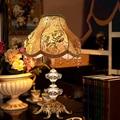 Европейский ретро кристалл лампы современный свет стол корзины привело enfant кристалл настольные лампы, светильники для спальни luminaria-де-меса