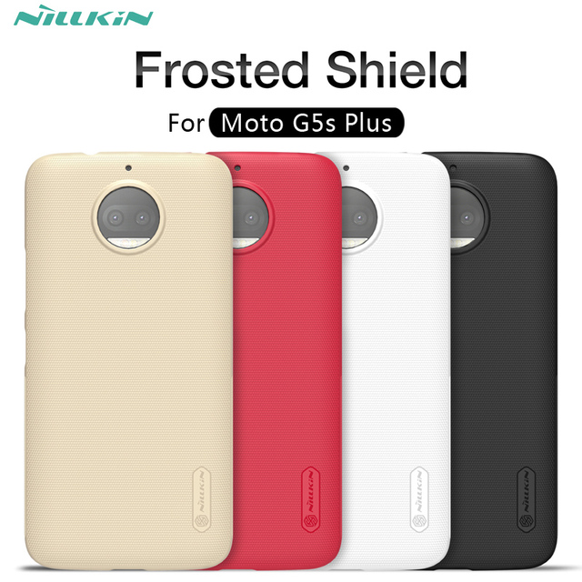 quality design 59292 57ae8 US $6.47 10% OFF|For Motorola MOTO G5s Plus case NILLKIN Frosted Shield  matte hard back cover case For MOTO G5s Plus-in Half-wrapped Case from ...