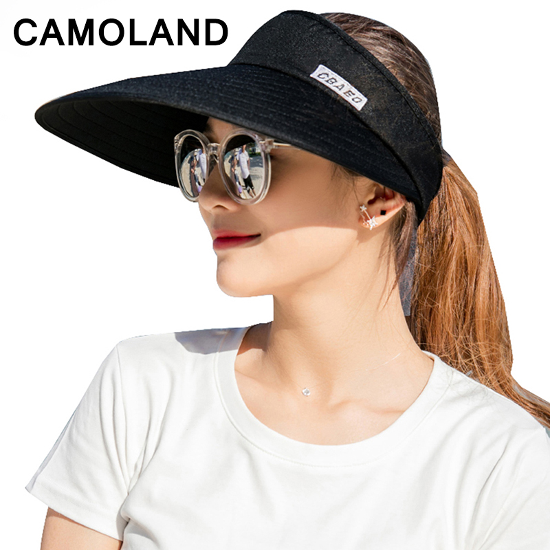 b3cf361eaba Detail Feedback Questions about Sun Hat for Women Men Unisex Outdoor Sports Beach  Cap Casual Fashion Visor Female UV Protection Foldable Packable Large Brim  ...
