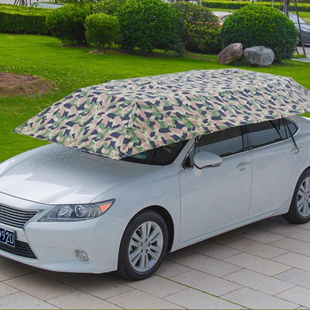 Semi automatic Car Hydraulic Pressure Tent Umbrella Foldable Anti UV Car Movable Carport Sun Shade Canopy Cover Universal