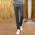 Flax linen men summer thin breathable zipper pants casual pants men casual slim straight long trousers office and business