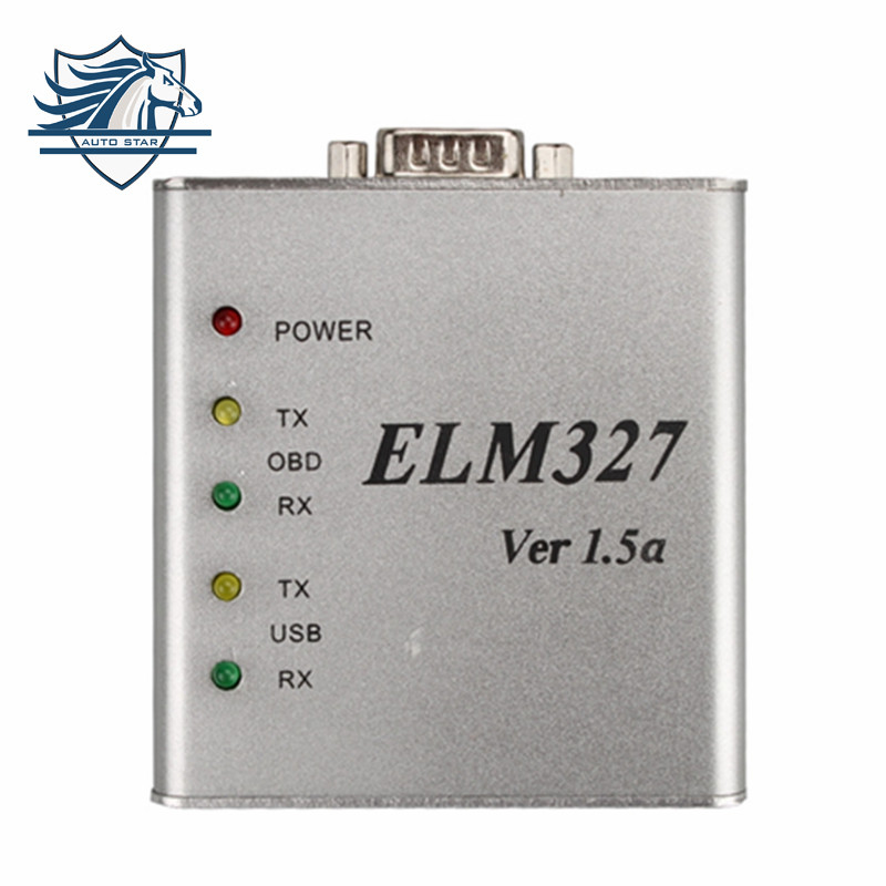 Highly Recommanded ELM327 Metal Aluminum OBD2 Auto Diagnostic Tool ELM 327 USB Metal Interface Code Reader Scanner V1.5/V1.5a