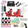 Envío Barato Kit de Tatuaje Completo 2 Máquinas de Tatuaje 6 Colores EE.UU. Marca Tintas Del Tatuaje fuente de Alimentación Kit