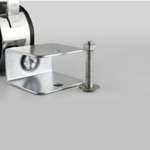 Image 5 - 4 Uds. De ruedas giratorias para cuna de 2 pulgadas con férula de freno, aleación de Zinc + nailon, accesorios de Hardware de alta calidad