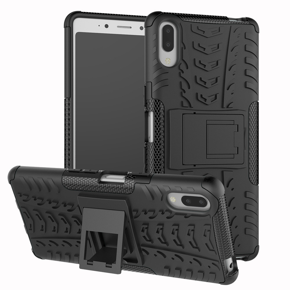 <font><b>Case</b></font> For <font><b>Sony</b></font> <font><b>Xperia</b></font> <font><b>L3</b></font> L3312 L4312 L4332 L3322 Dual Layer Tire Pattern Shockproof Armor <font><b>Case</b></font> Kickstand Cover For <font><b>Sony</b></font> <font><b>Xperia</b></font> <font><b>L3</b></font> image
