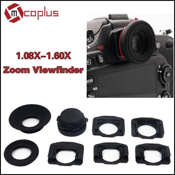 Mcoplus 1.08x-1.60x Zoom Viewfinder Eyepiece Magnifier for Nikon D7100 D7000 D5300 D5100 D3300 D3100 D800 D750 D600 D90 D80 D60 потребительские товары cs pro cs 1 dslr 6d canon 5d 3 7 d t3i d800 d7100 d3300 pb039