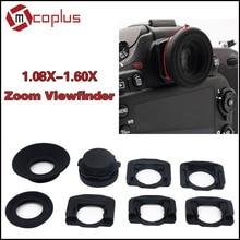 Mcoplus 1.08x-1.60x zoom lupa visor ocular para nikon d7100 d7000 d5300 d5100 d3300 d3100 d800 d600 d90 d80 d60 d750