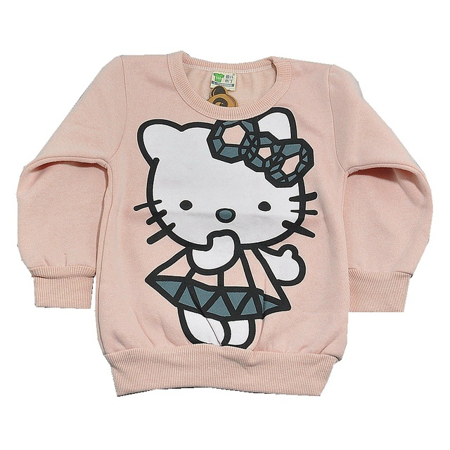 Light Pink Hello Kitty Hoodies Children's Jackets For Girls Hoodies Sweatshirt Kids Clothes Children Clothing Hello Kitti Hoodie