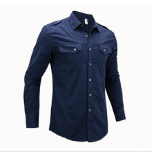 2019 new mens shirt business long-sleeved lapel collar Slim popular design N837