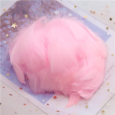Натуральные гусиные перья 4-8 см, маленькие плавающие цветные перья лебедя, Плюм для рукоделия, свадебные украшения, украшения для дома, 100 шт - Цвет: Pink 100pcs