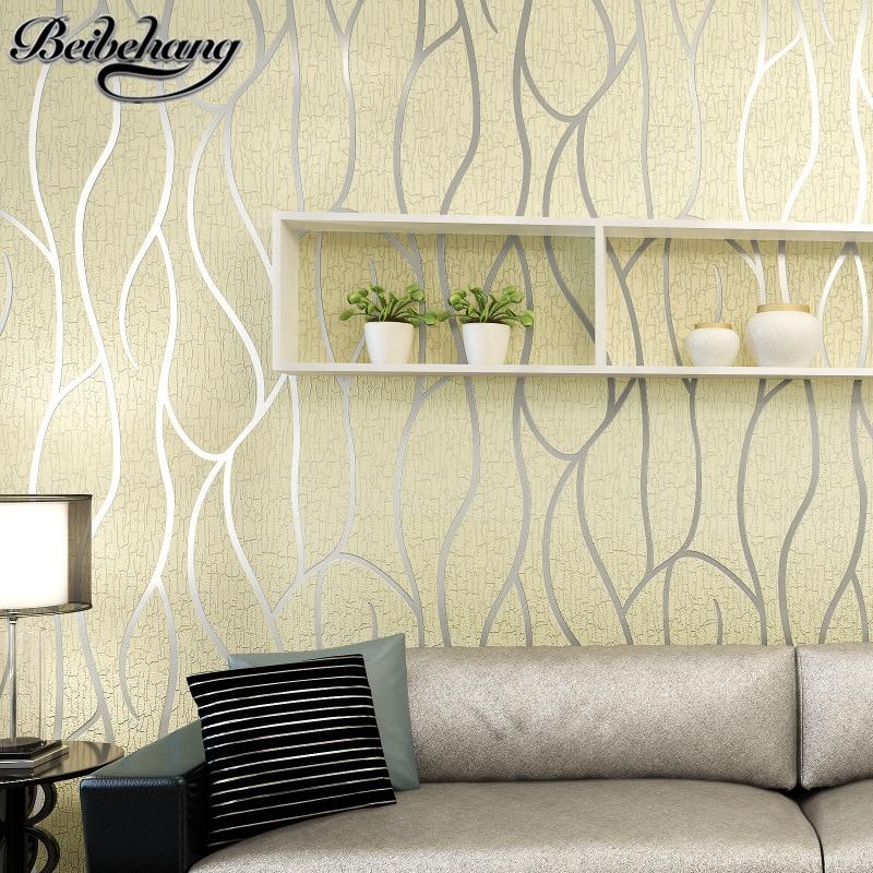 Beibehang 3d stereo a righe wallpapers soggiorno tv sfondo for Carta da parati a righe prezzi