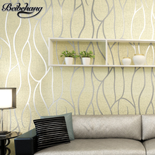 beibehang 3D Stereo Striped Wallpapers Living Room TV background wallpaper Modern minimalist bedroom deerskin Wall paper