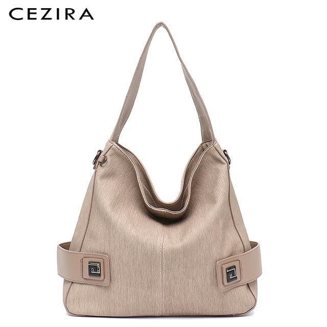 CEZIRA Casual Large Hobo for Women High Quality Vegan Leather Handbags Female Shoulder Bag  Ladies Fashion design Messenger Bag 5