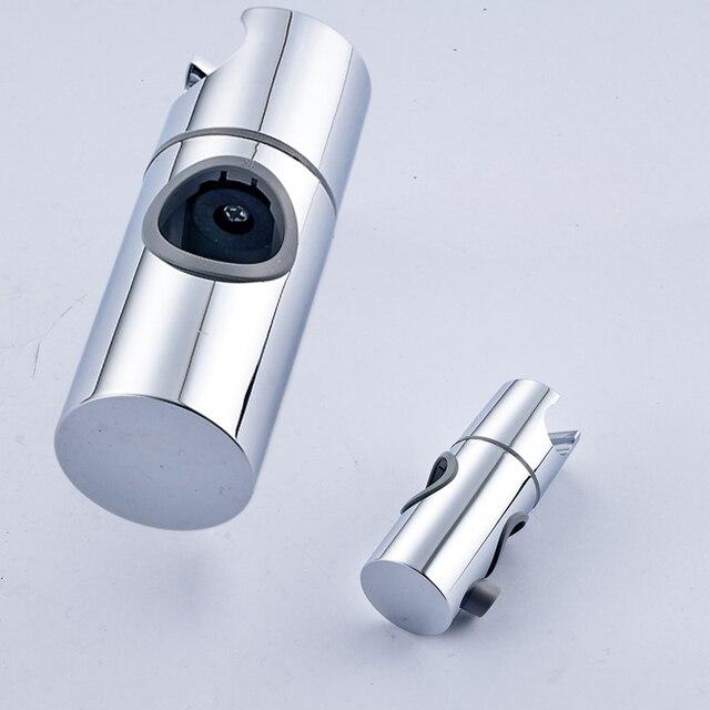 ABS Chrome Shower Head Rail Slider Holder Bathroom Adjustable ...