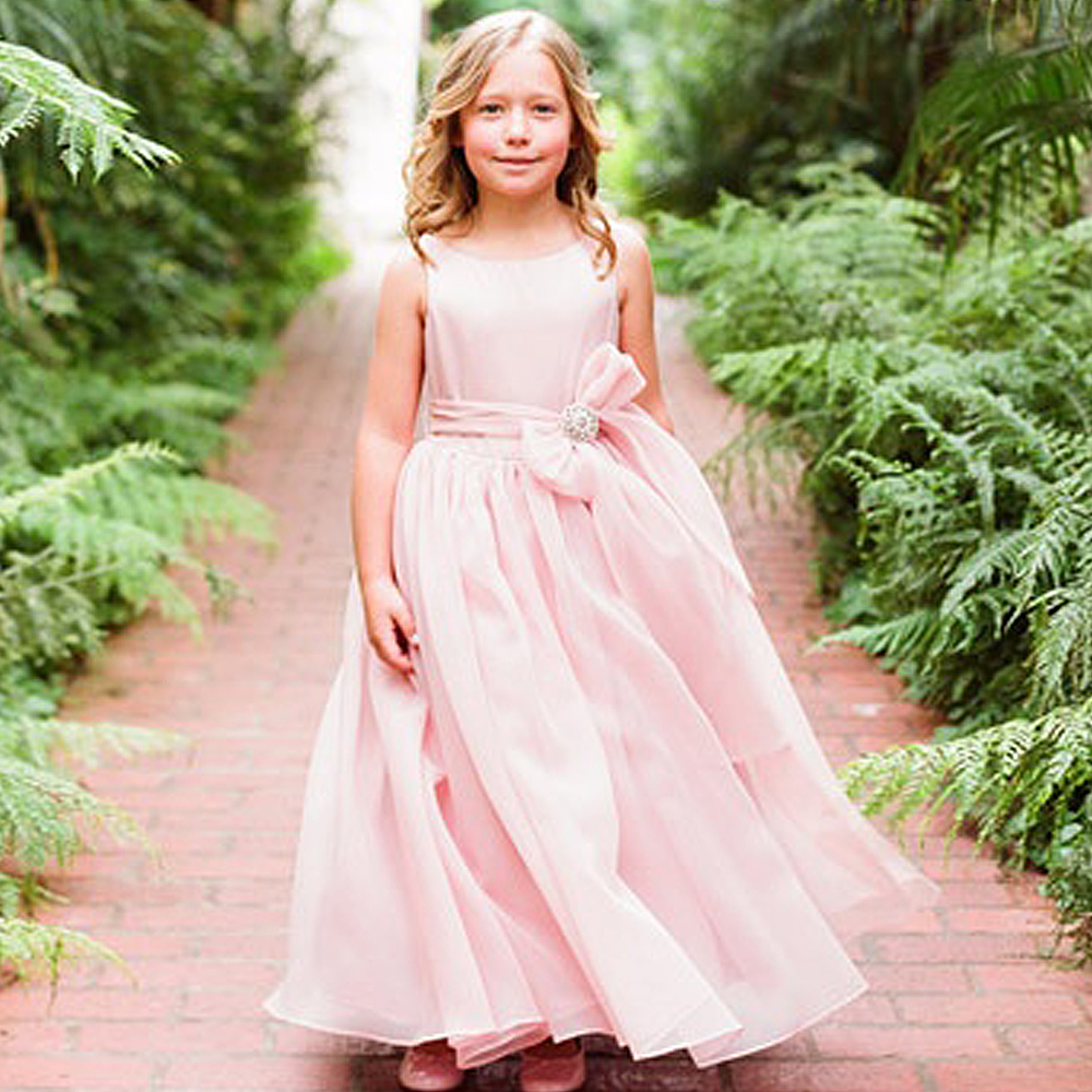 princess flowergirl dress bow elegant evening dresses for girls vestido para daminha blush pink kids long dresses 2-12 year old вечернее платье mermaid dress vestido noiva 2015 w006 elie saab evening dress