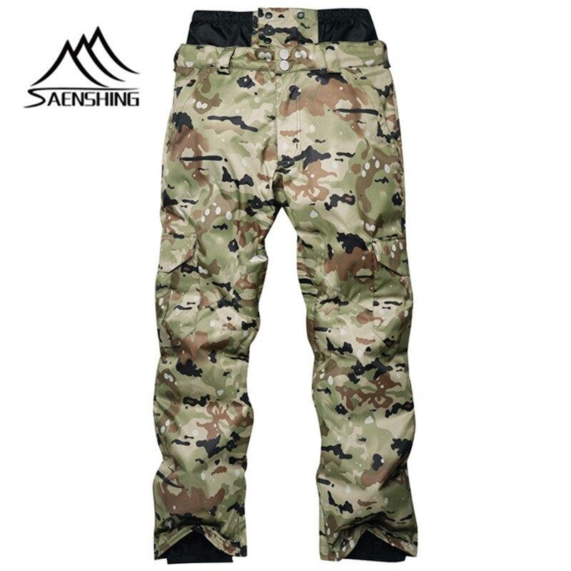 SAENSHING hommes pantalons de Ski snowboard plus épais Camouflage hiver extérieur imperméable coupe-vent réchauffement Nylon livraison gratuite