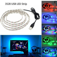 DC 5V USB LED strip SMD 3528 RGB Flexible Light Lamps LED Light TV Background Lighting Adhesive Tape not waterproof 1M 2M 3M 5M(China)