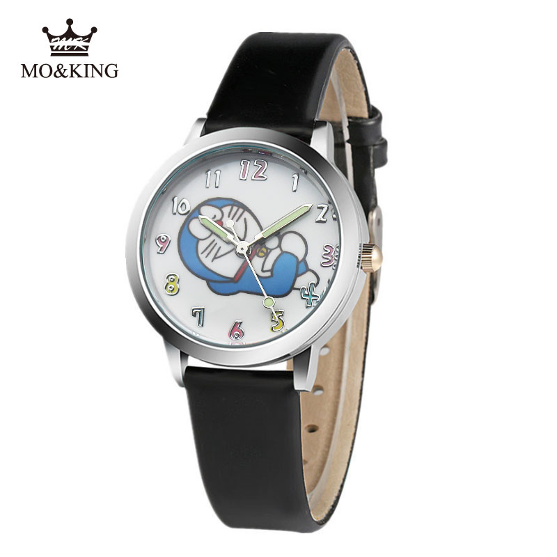 The New Children's Watch Boys And Girls Cartoon Doraemon Tinkling Cat Primary And Middle School Students Waterproof Quartz Watch