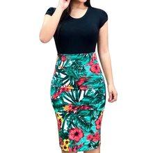 a5f2946bf9b LASPERAL 2019 femmes robe d été Sexy élastique Vintage classique Floral imprimé  robe crayon soirée robe moulante robes 3XL