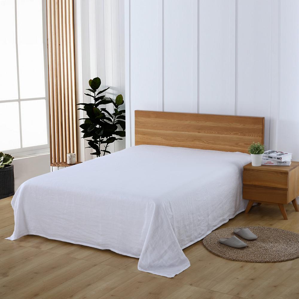 multicolor choose 100 French Linen bed sheet Flat Sheet King Queen Twin size 1 piece linen sheets in Sheet from Home Garden