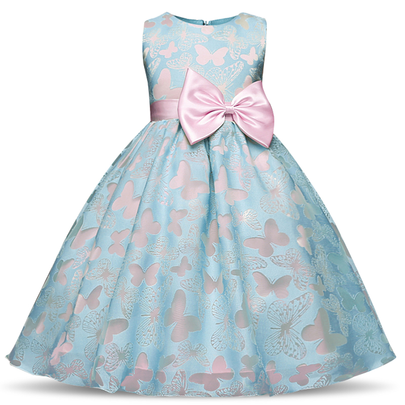 Summer New Butterfly Kids   Girl   Wedding   Flower     Girls     Dress   Princess Party Pageant Formal   Dresses   Prom Baby   Girl   Birthday Clothes