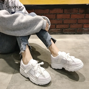 Image 3 - SWYIVY Mesh Casual Shoes Women Sneakers 2019 New Female Shoes White Breathable Ladies Shoe Low Cut Platform Sneakers Women