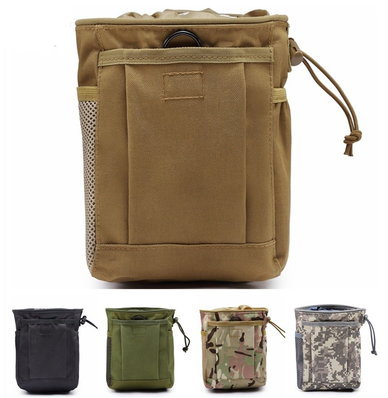 CQC Molle System Hunting Dump Drop Pouch Magazine Recycle Pouch Ammo Bags Airsoft Military Accessories Bag military molle admin front vest ammo storage pouch magazine utility belt waist bag for hunting shooting paintball cf game