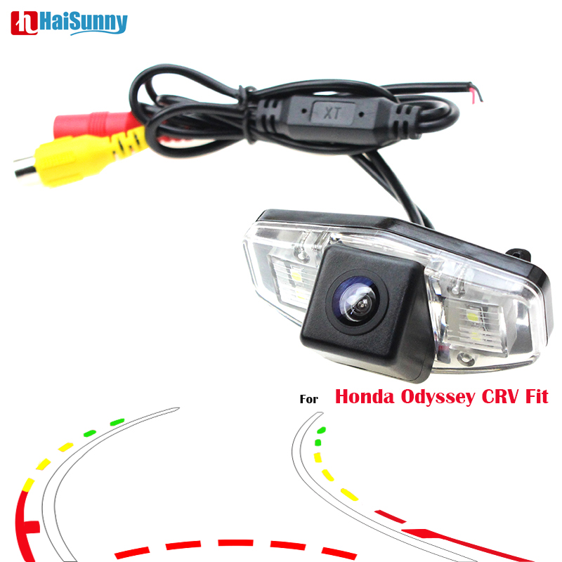 HaiSunny For Honda Odyssey 2009 2011 2013 CRV 2007 2008 Fit 2008 2011 Car Rear View Camera With Intelligent Dynamic Trajectory камера fish eye redpower hod018 для honda crv 2007 2011 jazz ii 2007 2013