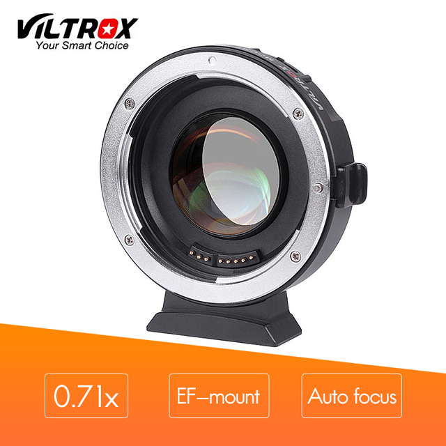 VILTROX Mount Adapter EF-M2 Automatic focus 0.71x for Canon EF-mount series lens to be used on M43 camera viltrox ef nex iii auto focus adapter for canon eos ef ef s lens to for sony e nex a7 a7r a7sii a7ii a6300 a6000 full frame