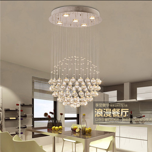 Modern Brief Chandelier Lighting K9 Transparent Crystal Lustres Pendant Lamp For Art Gallery Painted Corridor Salon