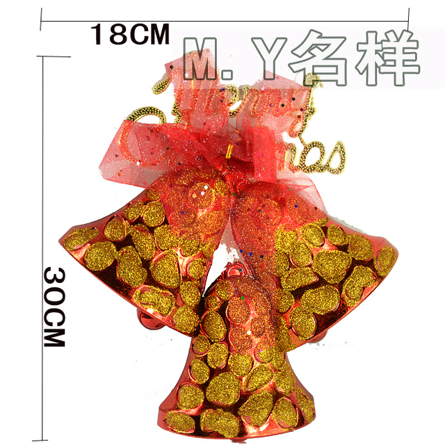 Supply New arrival Christmas hanging  Decoration big colorful bells of christmas tree