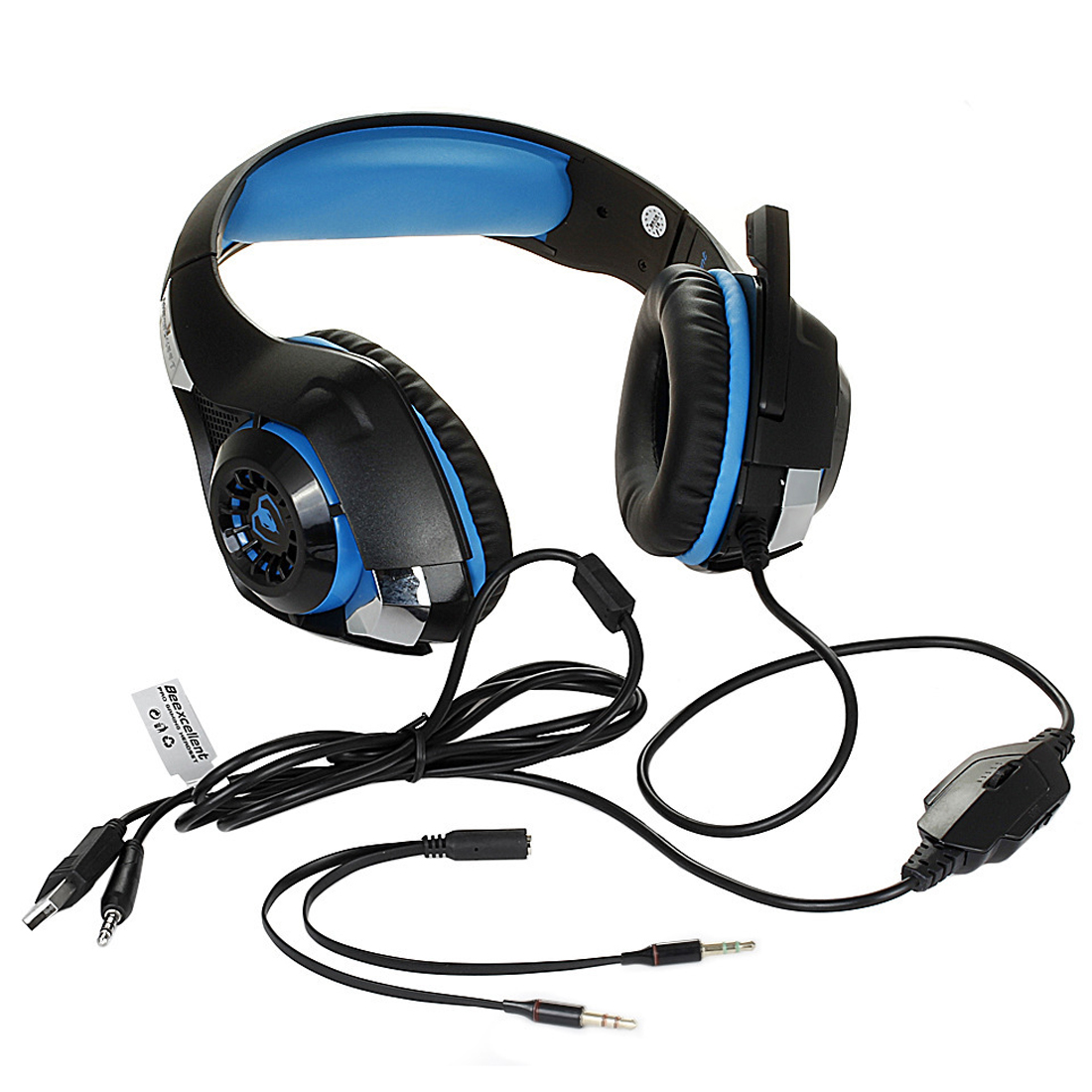 100% New Gaming Headphones For Mobile Phone Ps4/Psp/Pc 3.5Mm Wired Headphones With Microphone Led Lamp Noise Canceling Headse
