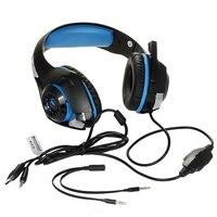 100% neue Gaming Kopfhörer Für Handy Ps4/Psp/Pc 3,5 Mm Verdrahtete Kopfhörer Mit Mikrofon Led-lampe Noise Cancelling Headse
