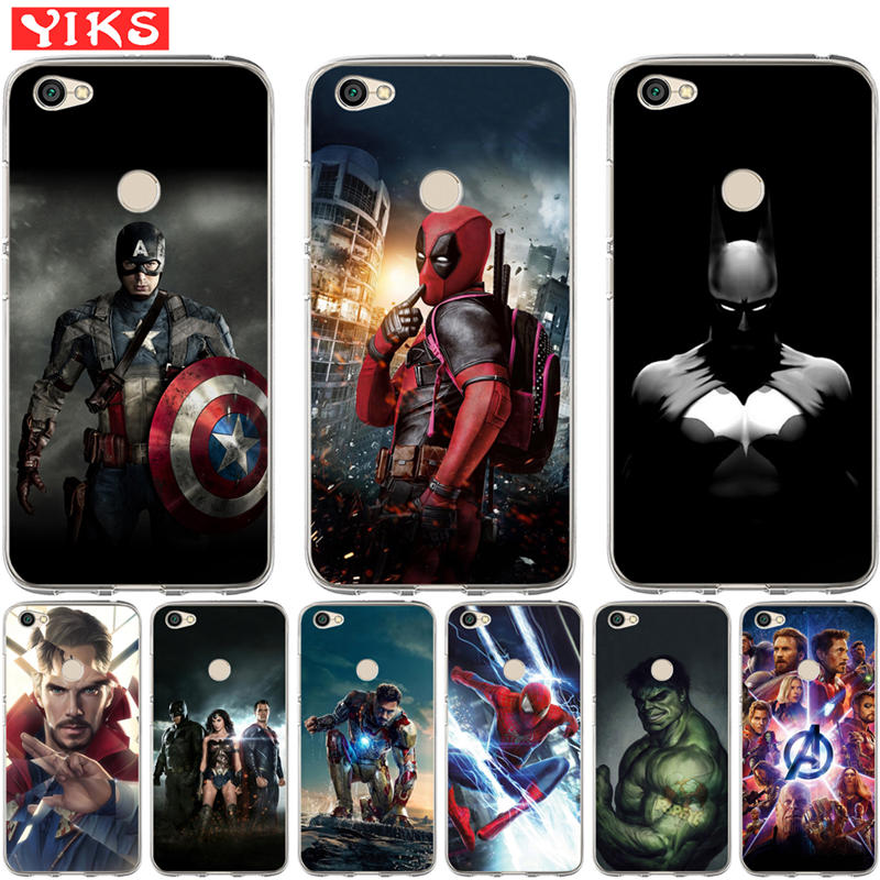 Luxury <font><b>Marvel</b></font> Avengers Heroes For <font><b>Xiaomi</b></font> <font><b>Redmi</b></font> 3S 4X Mi 6 A1 5X <font><b>Note</b></font> 3 <font><b>4</b></font> 4X 5A 5 Plus Pro Prime <font><b>Case</b></font> Cover Coque Etui Fundas image