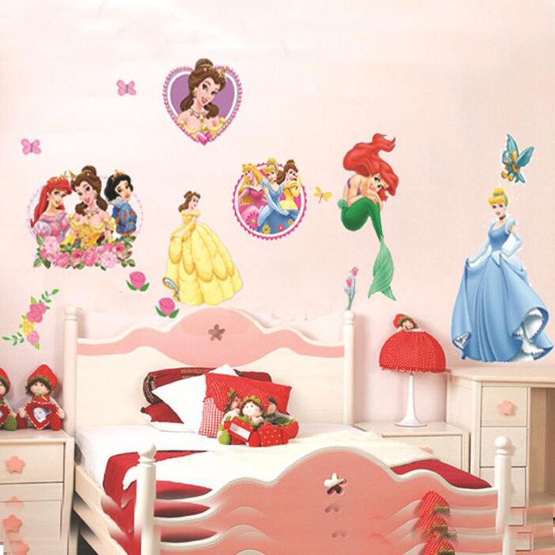 100 100cm new cheap diy removable nursery bedroom princess for Cheap wall mural decals