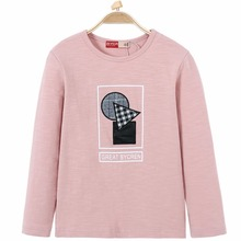 Spring Sweatshirts for Girls Geometric Pattern Printed Letter Round Neck Long Sleeves Autumn Pullover Boys 5-14 Kids Children