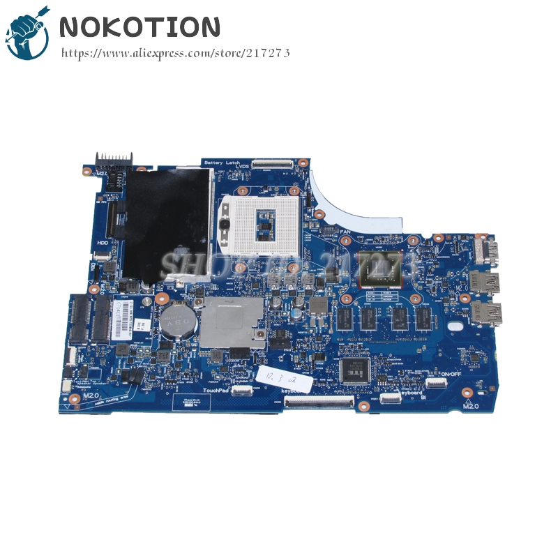 NOKOTION 720566-001 720566-501 Main Board For HP Envy TouchSmart 15 15-J 15-J053CL Laptop motherboard HM87 DDR3L GT740M 2GB nokotion 720566 501 720566 001 laptop motherboard for hp envy 15 15t j000 15t j100 hm87 ddr3l gt740m 2gb gpu