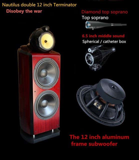 US $1550 0 |L 007 W12 3 way 4 drivers/speakers unit double 12 inch  high/mid/sub drivers/speakers COPY 800 D3 Speakers-in Bookshelf Speakers  from