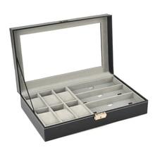 купить PU Leather 6 Grid 3 Sunglass Watch Display Box Case Storage Organizer Black по цене 1157.38 рублей