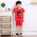 Детская одежда популярные мультфильм pattern повседневная лето с коротким рукавом мальчик набор для 2 3 4 5 6 лет ребенок мальчики девочки короткие набор