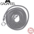 GAGAFEEL 925 Sterling Silver Tai Silver Vintage Necklaces For Men Women Luxury Jewelry Fashion Snake Necklaces Collares Chains
