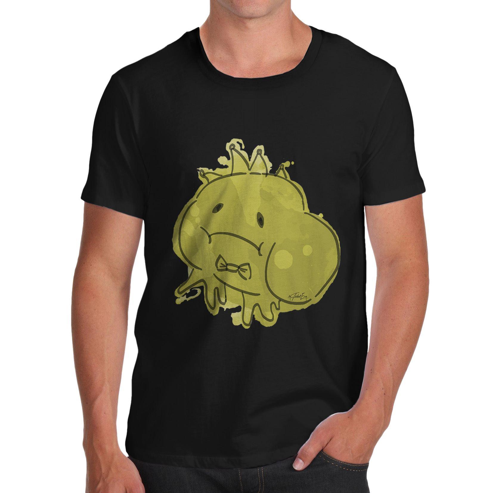 T shirt design uk cheap - Cool T Shirts Designs Best Selling Men Ink Splat Frog Prince T Shirt Cheap Sale 100